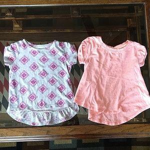 Cat&Jack/Kids Korner, girl's high-low shirt bundle